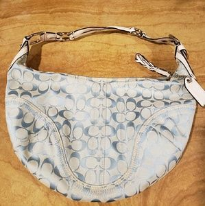 Coach light blue handbag large hobo